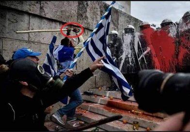 Африканци против грчката полиција, го бранат името Македонија