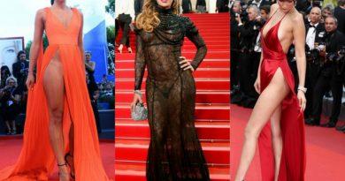 """""""Непослушни"""" деколтеа и фустани без гаќички: Ова се најшокантните стајлинзи во историјата на Канскиот фестивал"""