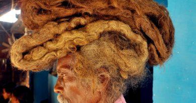 Фото:40 години не ја потстрижал ниту измил својата коса
